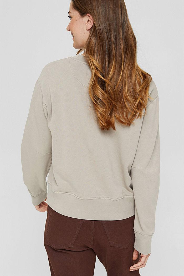 Sweatshirt van 100% biologisch katoen, LIGHT TAUPE, detail image number 3