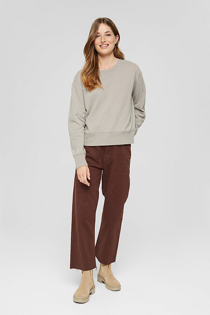 Sweatshirt made of 100% organic cotton, LIGHT TAUPE, detail image number 1
