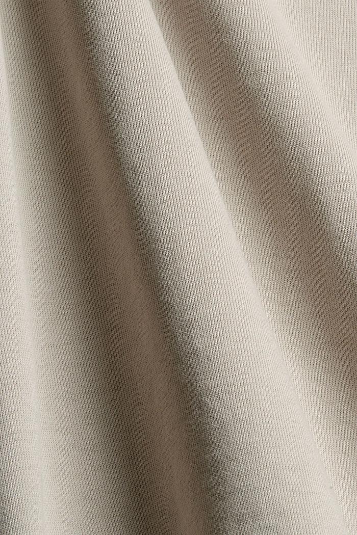 Sweatshirt van 100% biologisch katoen, LIGHT TAUPE, detail image number 4
