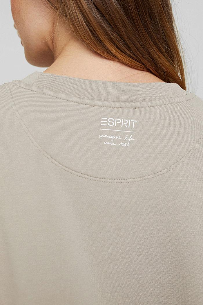 Sweatshirt van 100% biologisch katoen, LIGHT TAUPE, detail image number 5