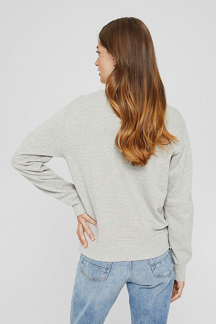 Meliertes Sweatshirt aus Bio-Baumwoll-Mix, LIGHT GREY, detail image number 3