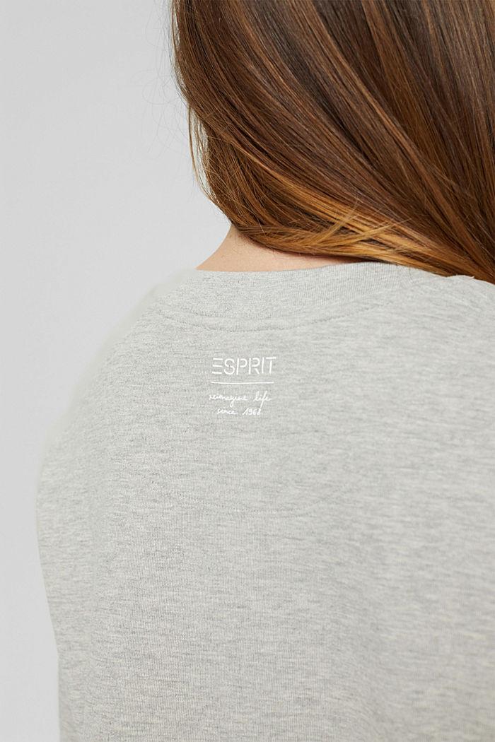Meliertes Sweatshirt aus Bio-Baumwoll-Mix, LIGHT GREY, detail image number 5