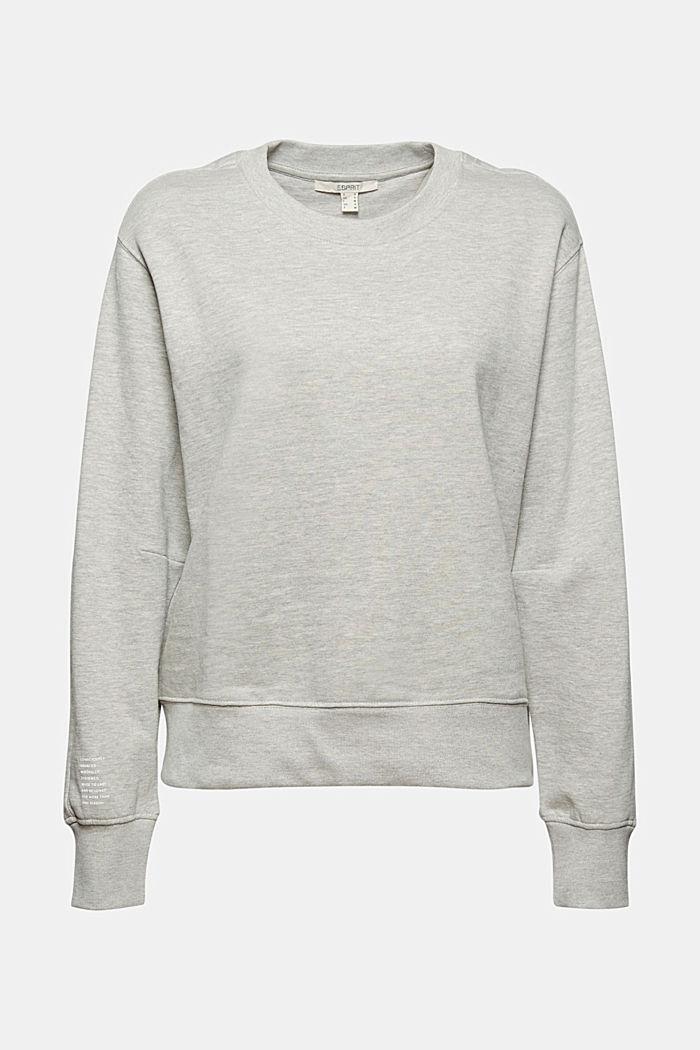 Sweat-shirt chiné en coton biologique mélangé