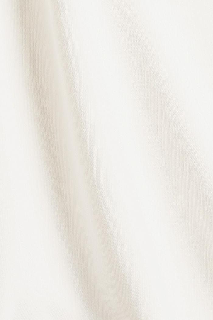 Besticktes Sweatshirt aus Bio-Baumwoll-Mix, OFF WHITE, detail image number 4