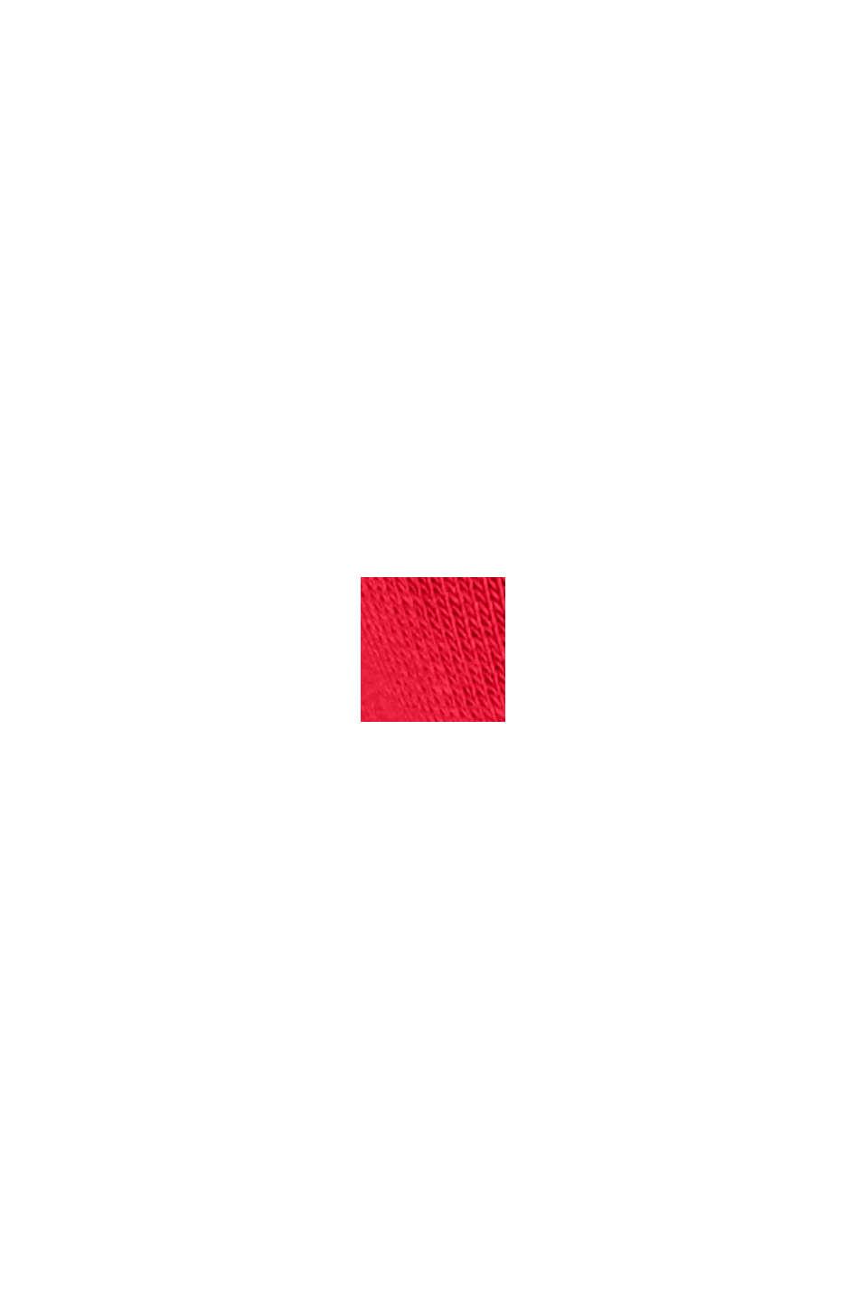 Sweat-shirt brodé en coton biologique mélangé, RED, swatch