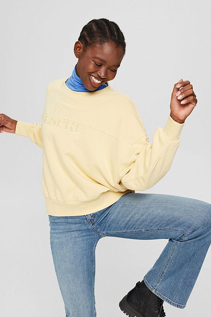 Sweat-shirt brodé en coton biologique mélangé