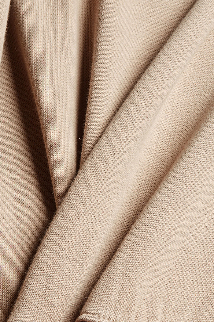 Relaxed hoodie with logo, 100% organic cotton, LIGHT TAUPE, detail image number 4