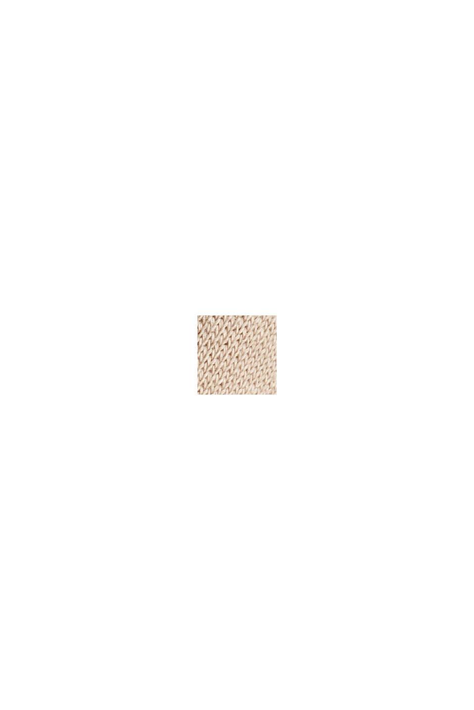 Sweat à capuche décontracté orné d'un logo, 100% coton biologique, LIGHT TAUPE, swatch