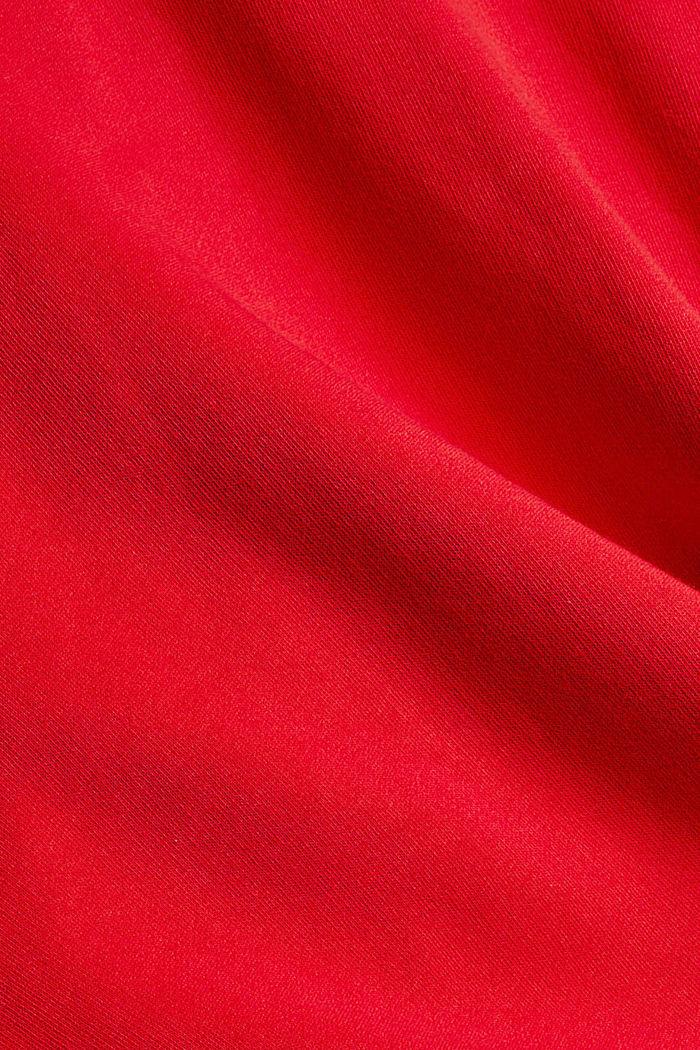 Relaxte hoodie met logo, 100% biologisch katoen, RED, detail image number 4