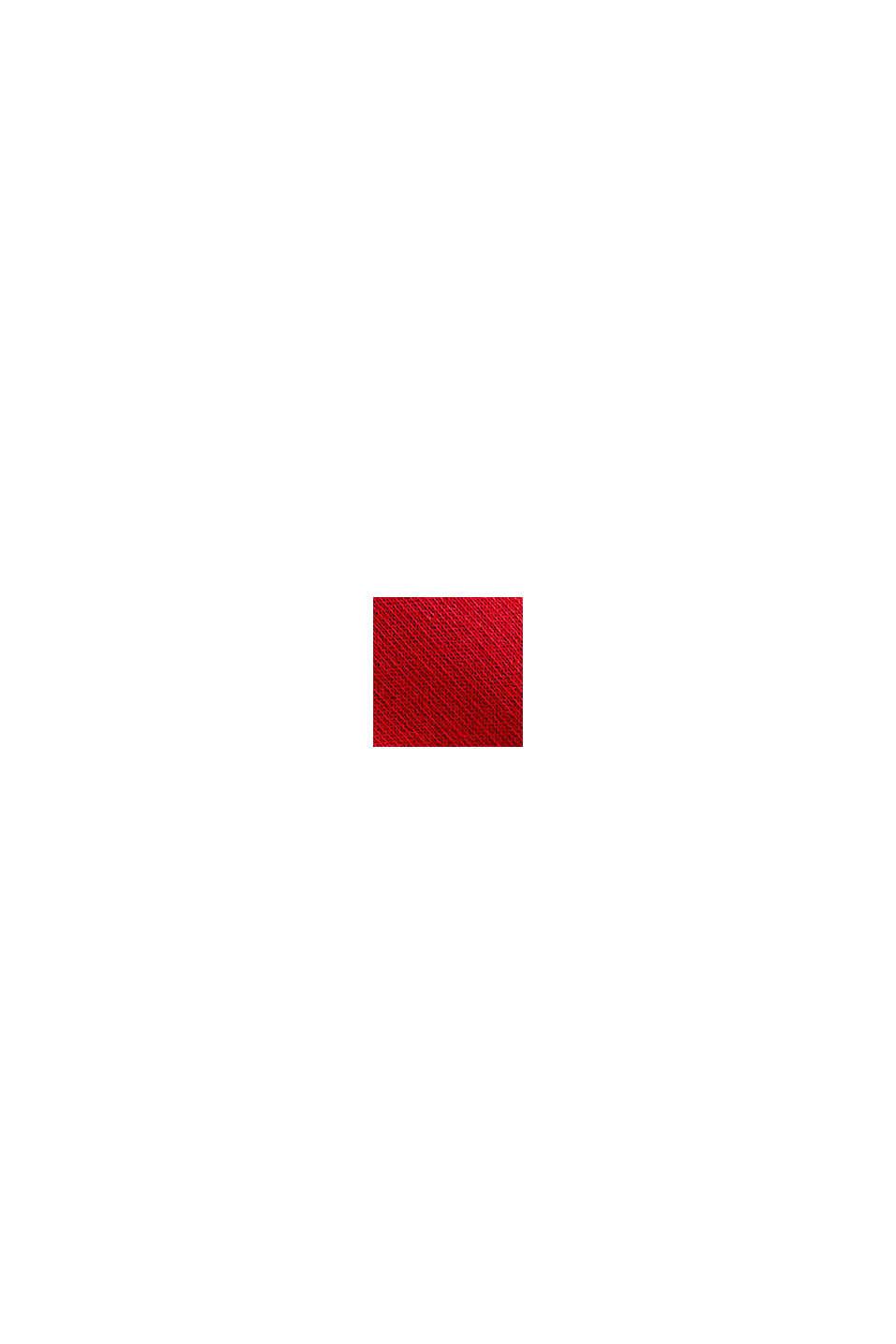 Sweat à capuche décontracté orné d'un logo, 100% coton biologique, RED, swatch