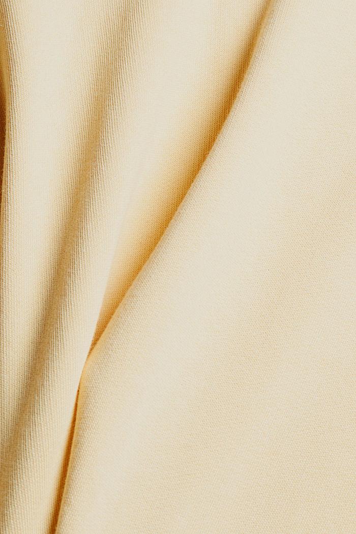 Relaxte hoodie met logo, 100% biologisch katoen, PASTEL YELLOW, detail image number 4