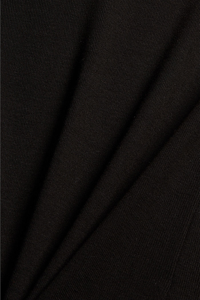 Van 100% TENCEL™: fijn geribde longsleeve, BLACK, detail image number 4