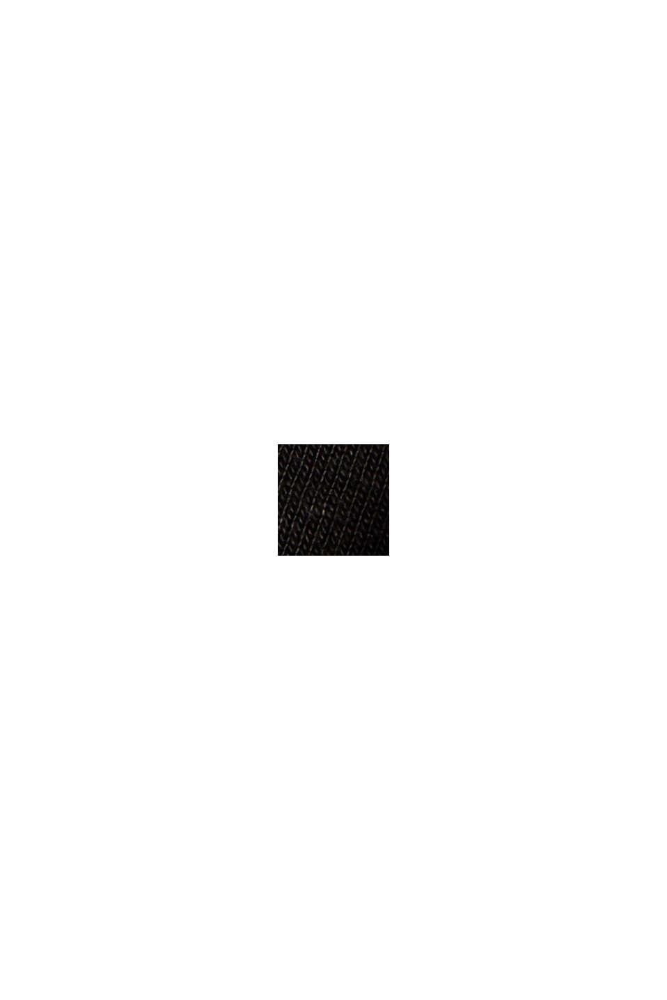 100 % TENCEL™ -kuitua: pitkähihainen paita hienoa ribbineulosta, BLACK, swatch