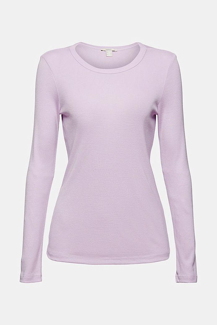 100 % TENCEL™ -kuitua: pitkähihainen paita hienoa ribbineulosta