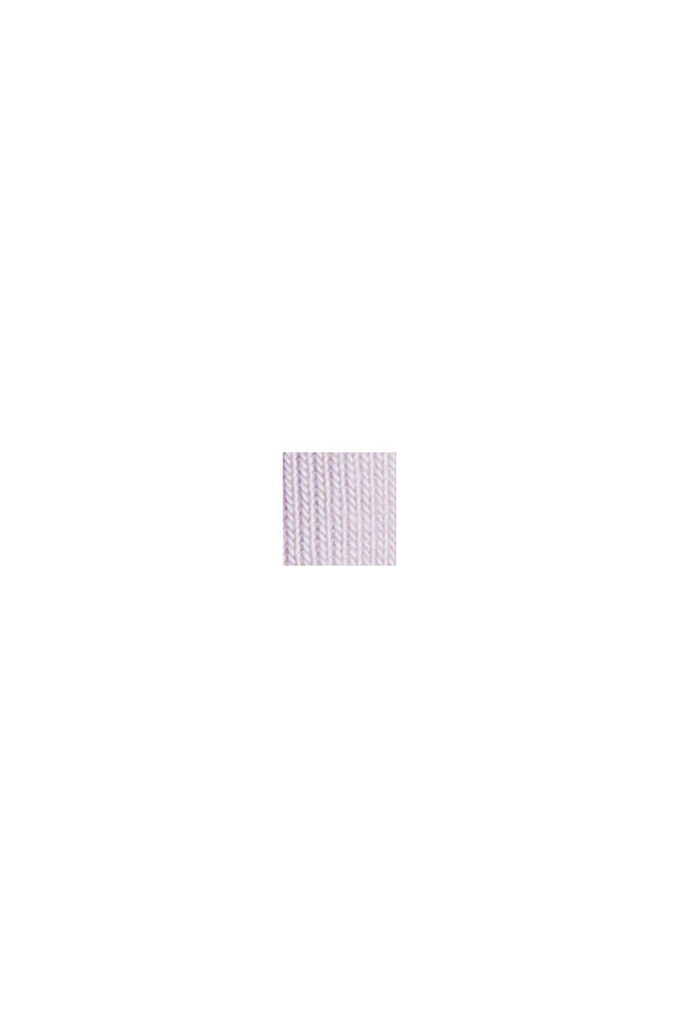 100 % TENCEL™ -kuitua: pitkähihainen paita hienoa ribbineulosta, LILAC, swatch