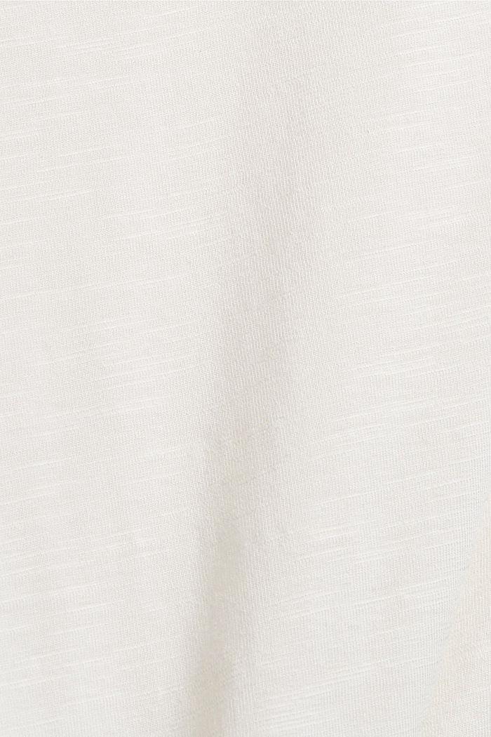 Longsleeve van een biologische katoenmix, OFF WHITE, detail image number 4