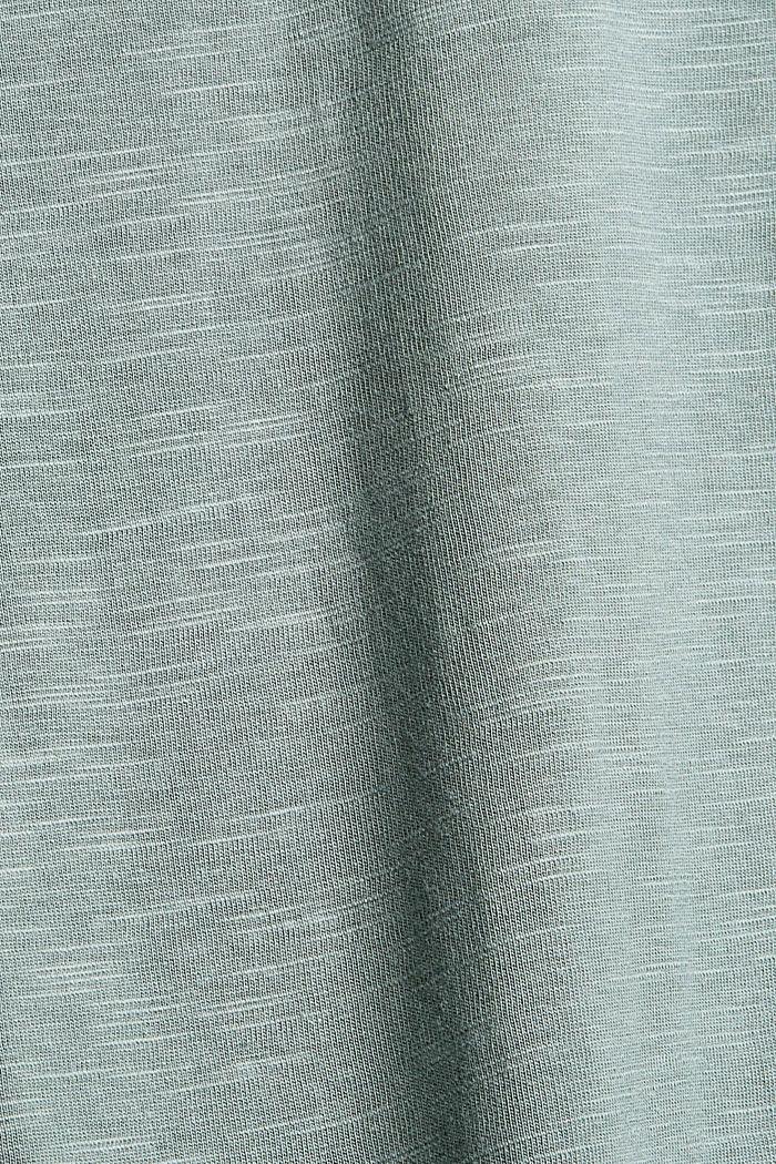 Camiseta de manga larga confeccionada en una mezcla de algodón ecológico, DUSTY GREEN, detail image number 4
