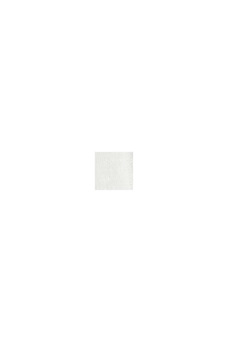 Žebrové tričko ze směsového materiálu, OFF WHITE, swatch