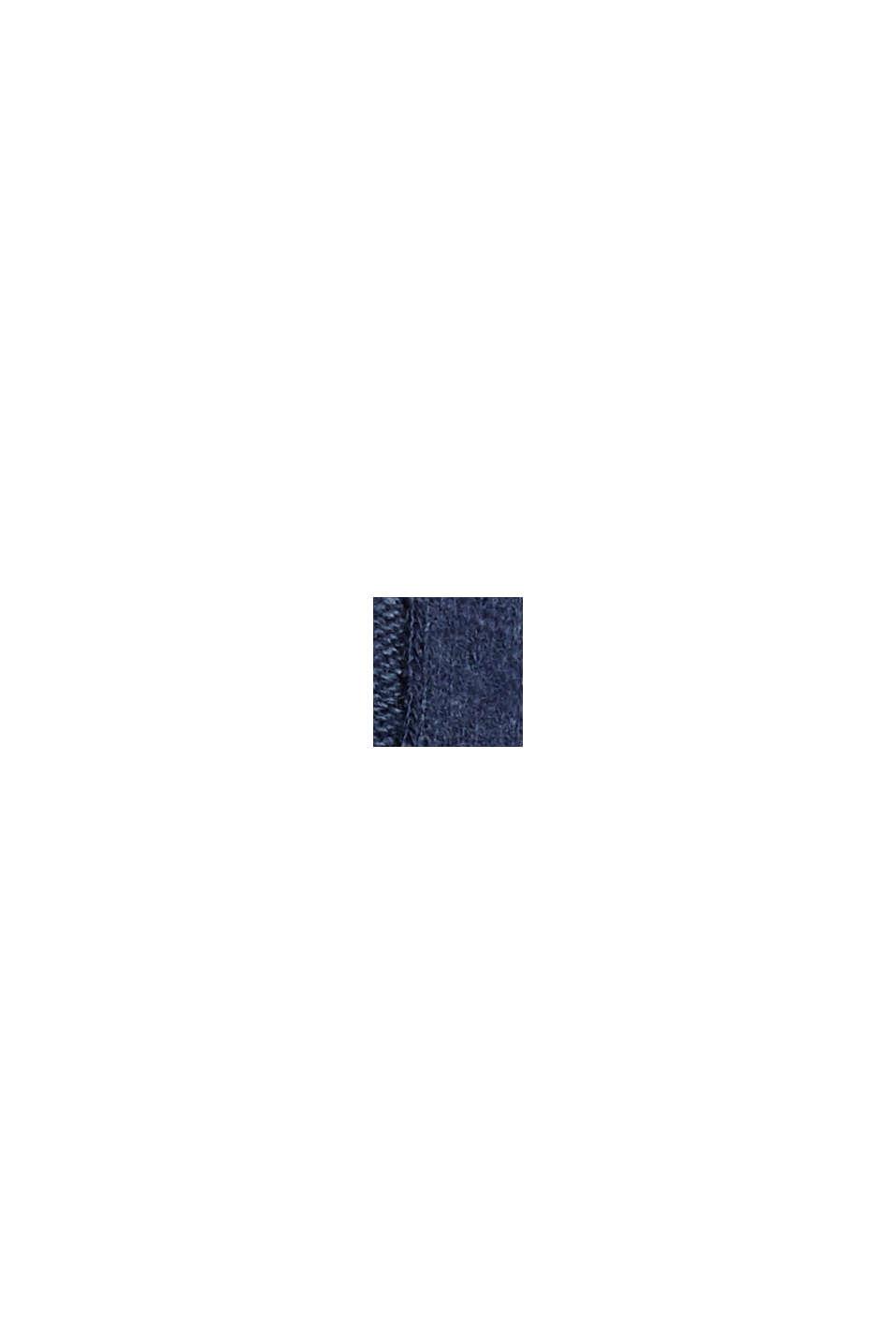 Žebrové tričko ze směsového materiálu, NAVY, swatch