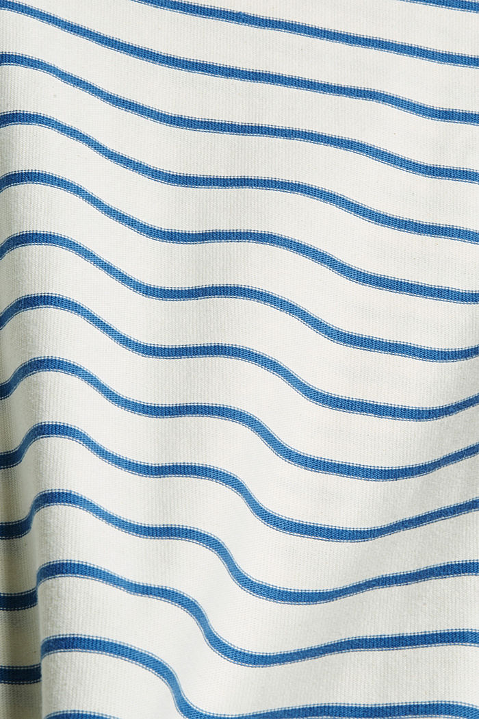 Gestreepte longsleeve van 100% biologisch katoen, BRIGHT BLUE, detail image number 4