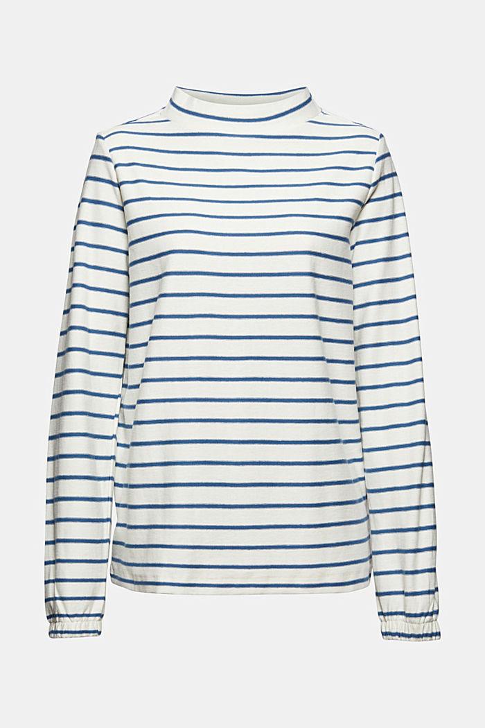 Camiseta de manga larga a rayas, 100 % algodón ecológico