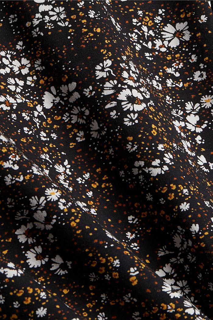 Longsleeve mit Allover-Print, Organic Cotton, BLACK, detail image number 4