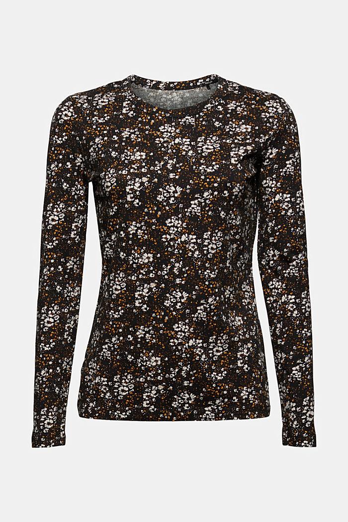 Longsleeve mit Allover-Print, Organic Cotton, BLACK, detail image number 8