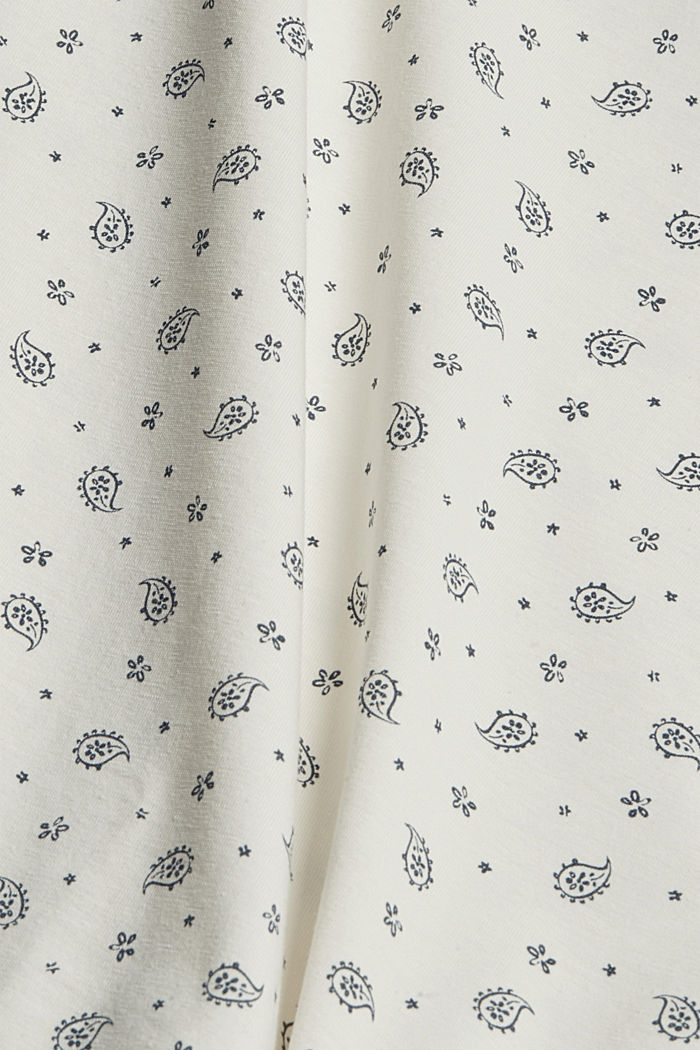 Longsleeve mit Allover-Print, Organic Cotton, OFF WHITE, detail image number 4