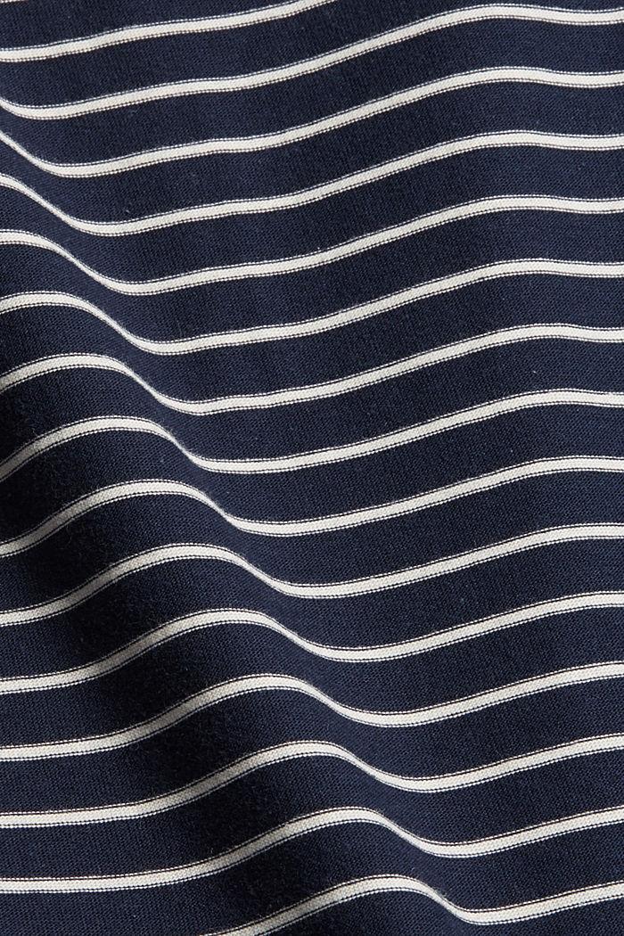 Gestreiftes Longsleeve, Organic Cotton, NAVY, detail image number 4