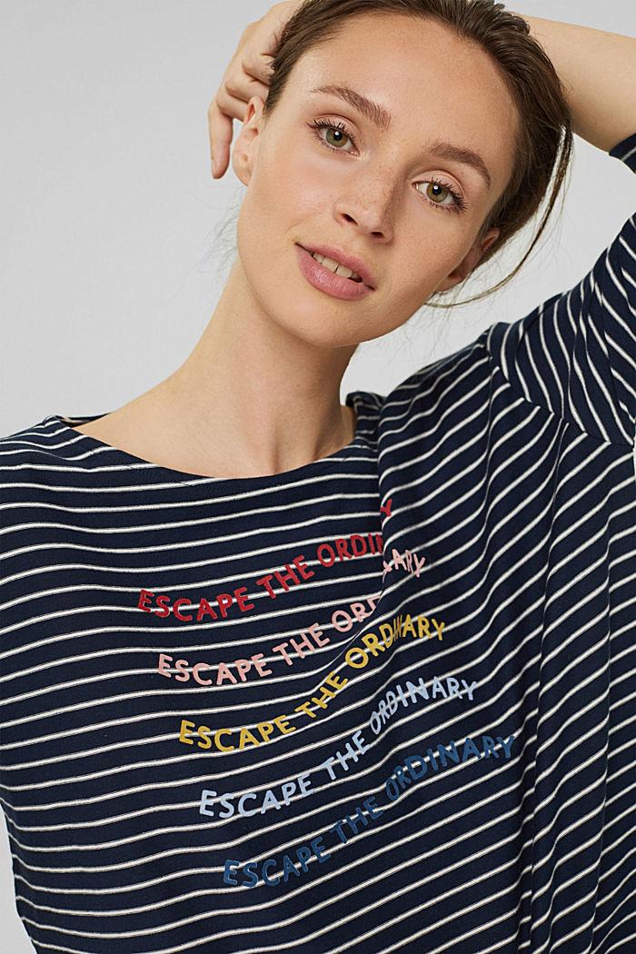 Stribet, langærmet shirt, økologisk bomuld
