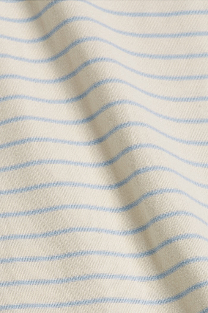 Striped long sleeve top, organic cotton, PASTEL BLUE, detail image number 4