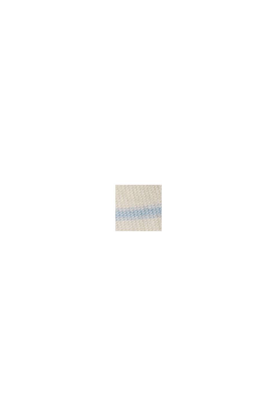 Stribet, langærmet shirt, økologisk bomuld, PASTEL BLUE, swatch