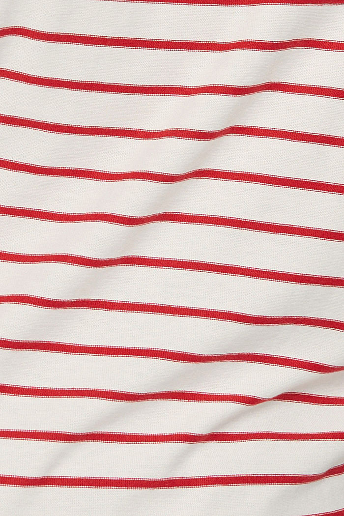 CURVY jersey long sleeve top in organic cotton, RED, detail image number 4
