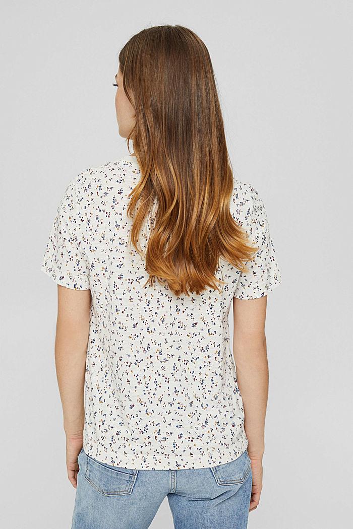 T-shirt à imprimé en coton bio mélangé, OFF WHITE, detail image number 3