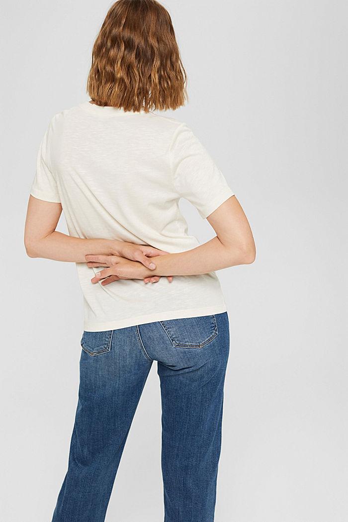 Print-T-Shirt aus Bio-Baumwolle/TENCEL™, OFF WHITE, detail image number 3