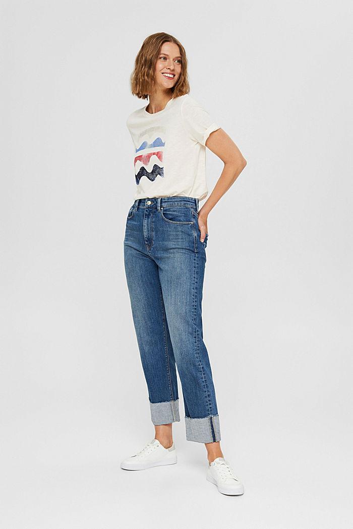 Print-T-Shirt aus Bio-Baumwolle/TENCEL™, OFF WHITE, detail image number 1