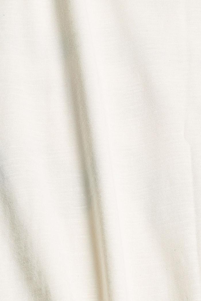 Print-T-Shirt aus Bio-Baumwolle/TENCEL™, OFF WHITE, detail image number 4