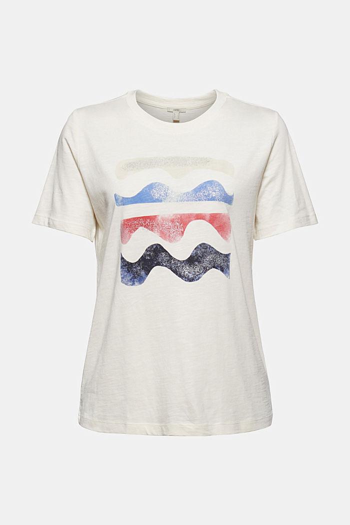 Print-T-Shirt aus Bio-Baumwolle/TENCEL™, OFF WHITE, detail image number 6