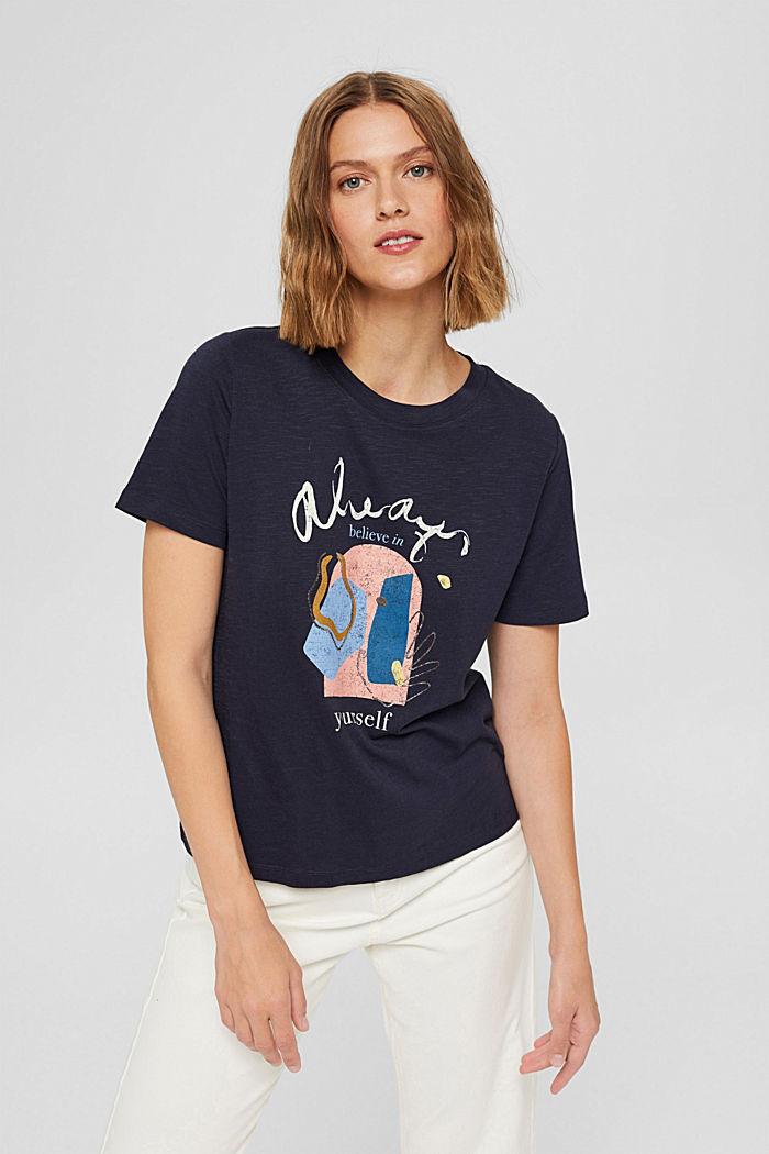T-shirt met print van biologisch katoen/TENCEL™, NAVY, detail image number 0
