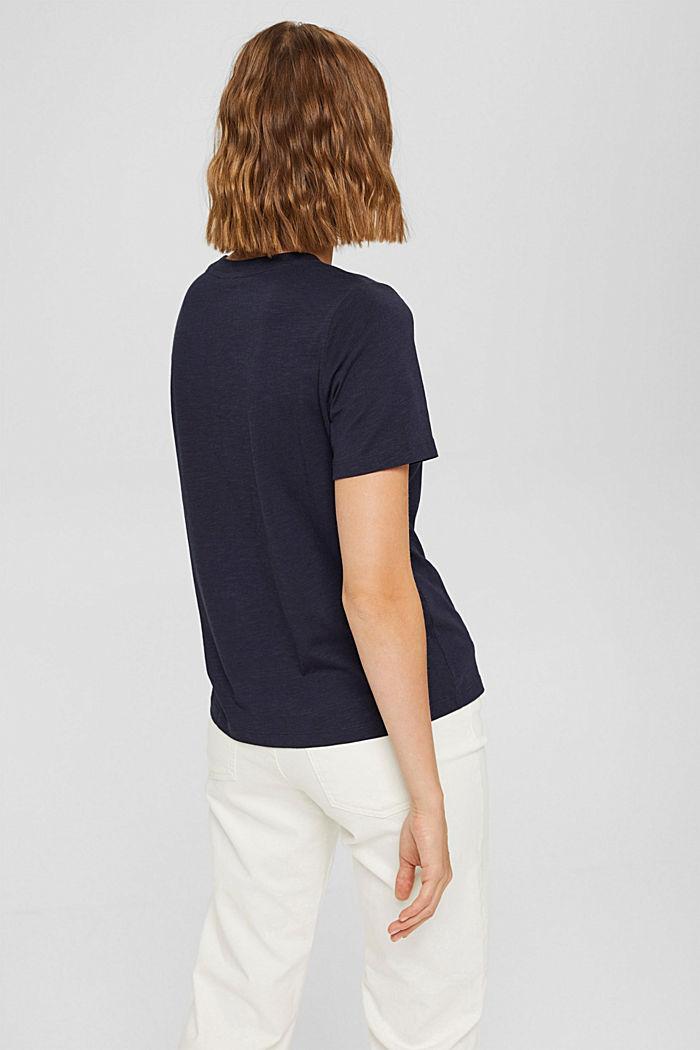 T-shirt met print van biologisch katoen/TENCEL™, NAVY, detail image number 3