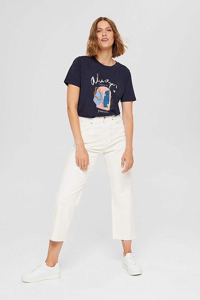 T-shirt met print van biologisch katoen/TENCEL™, NAVY, detail image number 6