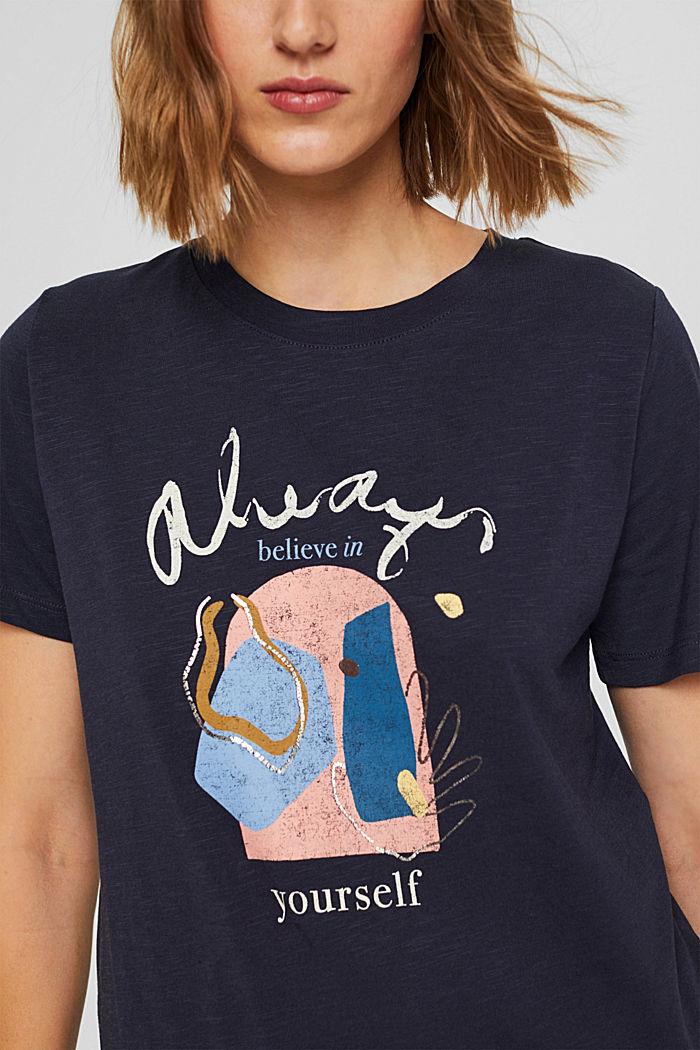T-shirt met print van biologisch katoen/TENCEL™, NAVY, detail image number 2