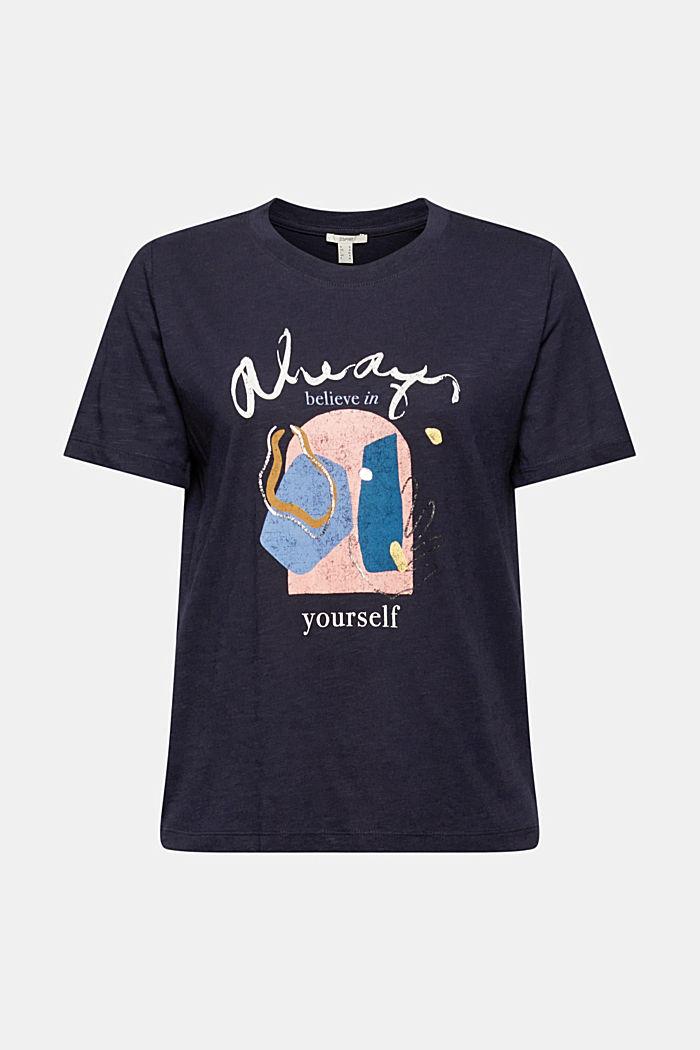 T-shirt met print van biologisch katoen/TENCEL™, NAVY, detail image number 7