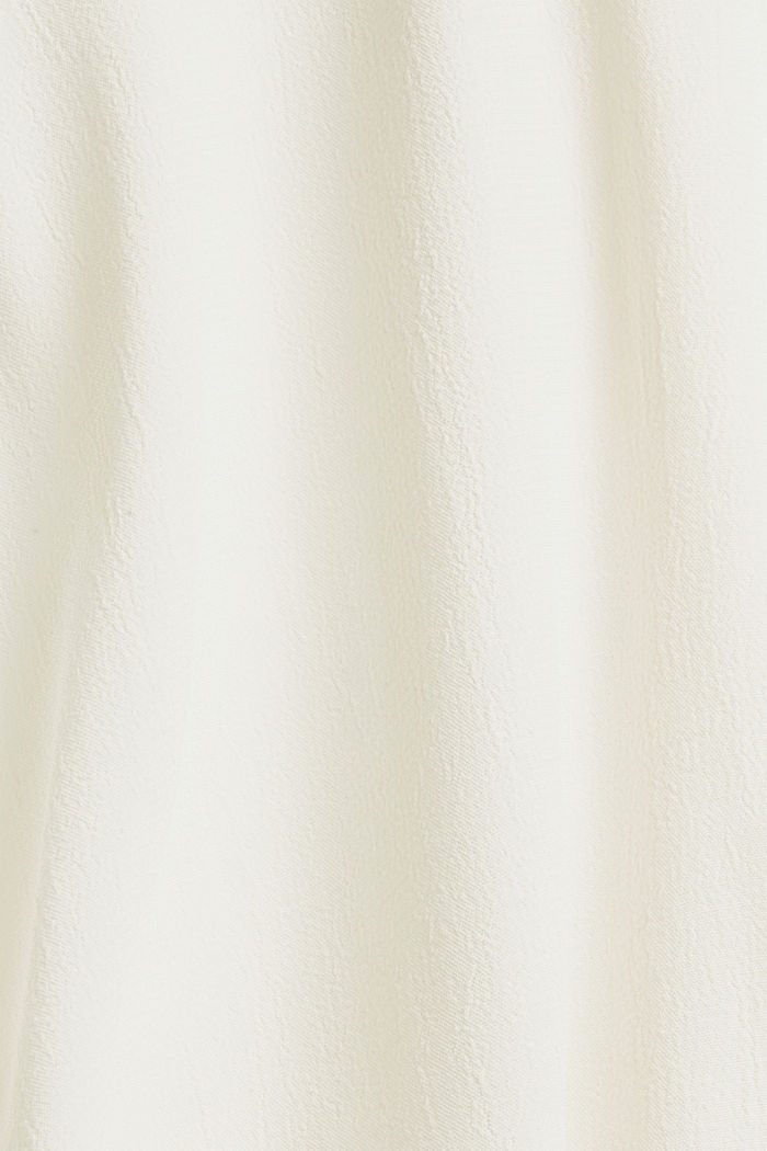 Wide blouse top in jersey and cloth, OFF WHITE, detail image number 4