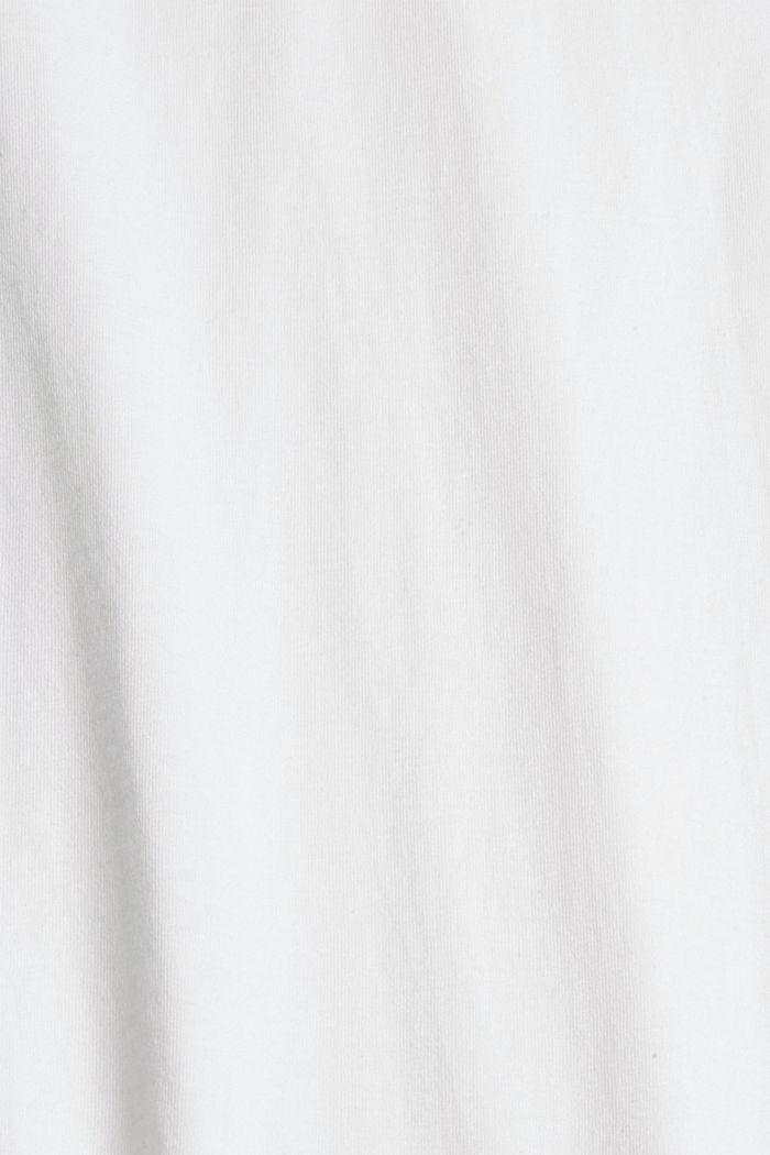 Longsleeve mit Herz-Print, 100% Bio-Baumwolle, WHITE, detail image number 4