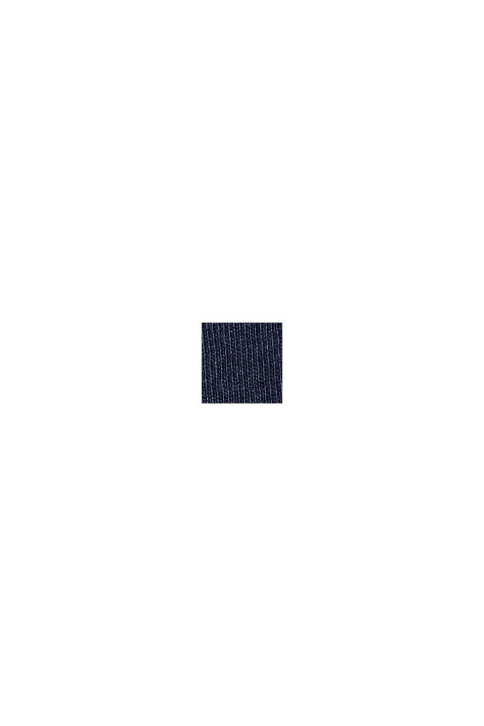 Maglia a maniche lunghe con stampa di cuore, 100% cotone biologico, NAVY, swatch