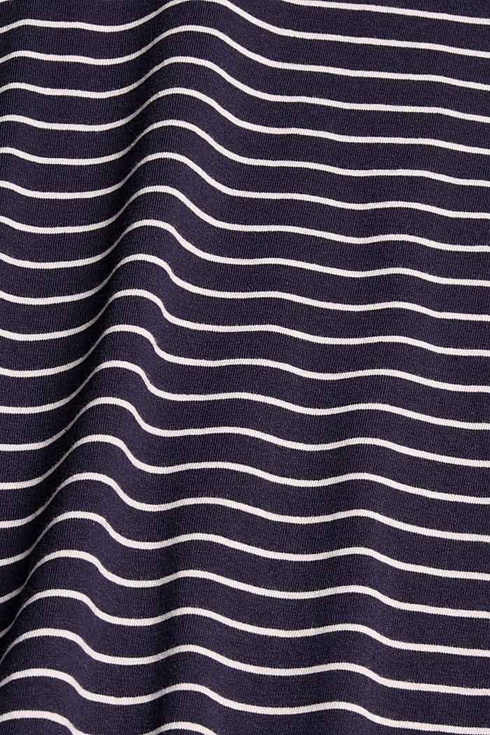 Longsleeve mit Herz-Print, 100% Baumwolle, NAVY, detail image number 4