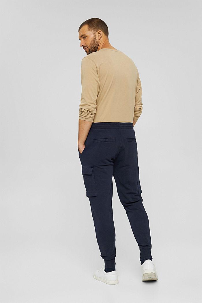 Pantalón jogging de diseño cargo, algodón ecológico, NAVY, detail image number 1
