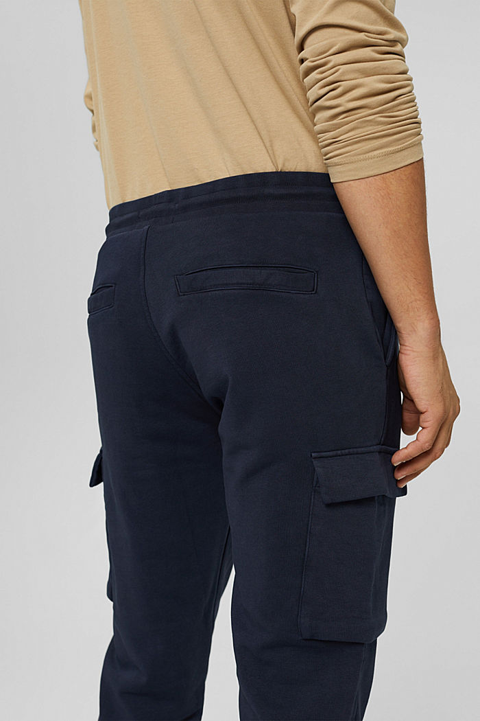 Pantalón jogging de diseño cargo, algodón ecológico, NAVY, detail image number 3