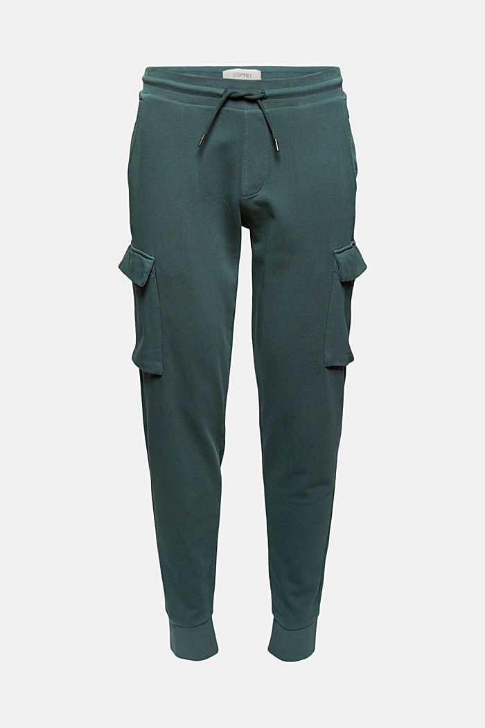 Tracksuit bottoms in a cargo look, organic cotton